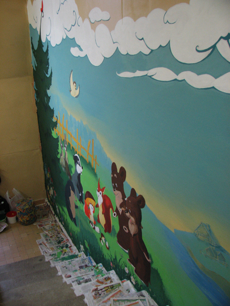Интерьер лестницы в детском саду фото